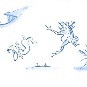 鳥獣戯画(1)